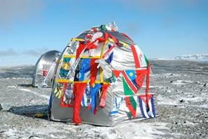 Antarctic Village - No Borders, Dome Dwelling by Lucy + Jorge Orta contemporary artwork