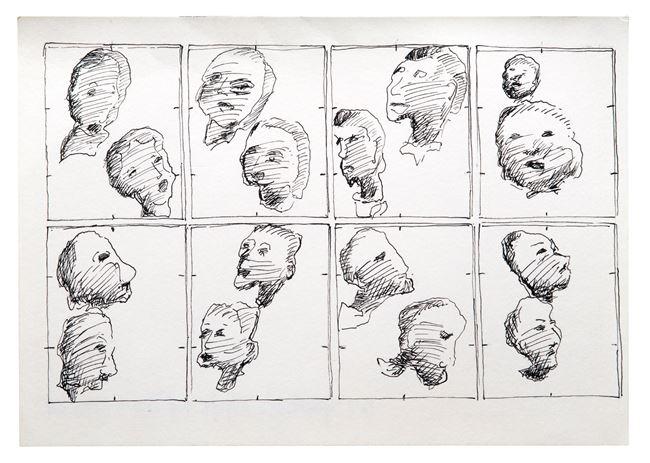 Köpfe by Chris Reinecke contemporary artwork