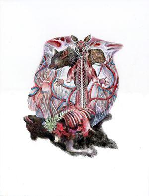 Entanglement Hearts - Asura by Maki Ohkojima contemporary artwork