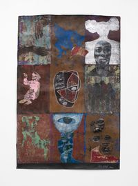 Thessalonian Green II by Ronald Muchatuta contemporary artwork painting, works on paper
