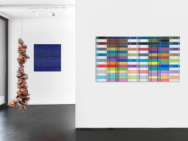 Exhibition view: Group Exhibition, Patterns II, Anne Mosseri-Marlio Galerie, Basel (2 April–27 June). Courtesy Anne Mosseri-Marlio Galerie.