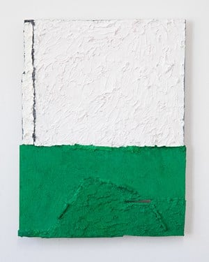 Untitled (green and white) by Louise Gresswell contemporary artwork