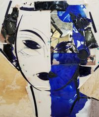 Portrait in Blues by Manolo Valdés contemporary artwork mixed media