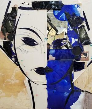 Portrait in Blues by Manolo Valdés contemporary artwork