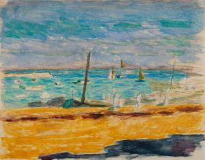 Marine dans un port du midi by Pierre Bonnard contemporary artwork