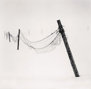 Inclined Posts by Michael Kenna contemporary artwork