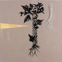 Arrangement for The Galapagos (Pteris pedata, after Darwin) by Caroline Rothwell contemporary artwork mixed media