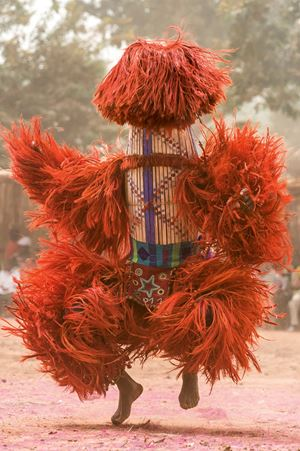 Raffia Harvest Mask, Burkina Faso by Carol Beckwith & Angela Fisher contemporary artwork