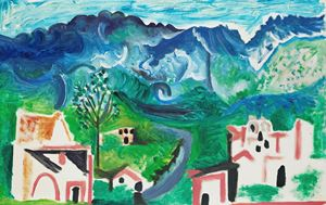 Paysage méditerranéen or anthropomorphe by Pablo Picasso contemporary artwork