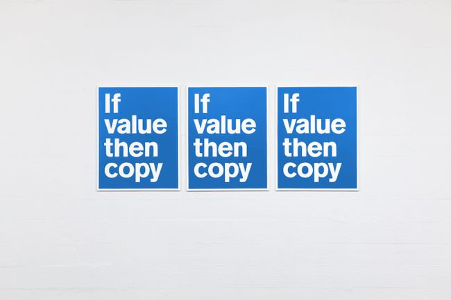 If Value Then Copy by Superflex contemporary artwork