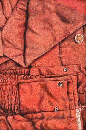 Into the Vermilion: Three stars and a Sun by Marina Cruz contemporary artwork