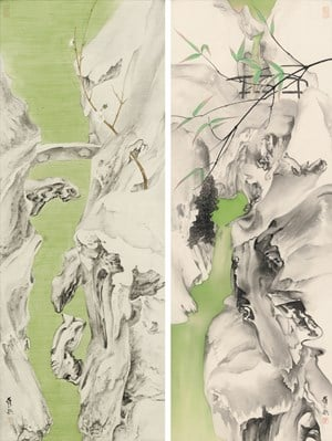 Elegant Offering Series No. 11 and No. 12 by Luo Ying contemporary artwork