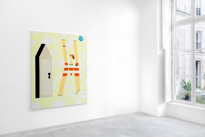 Exhibition view: Farah Atassi, Paintings, Almine Rech, Paris (5 September–3 October 2020). ©Farah Atassi. Courtesy the Artist and Almine Rech.Photo: Matt Bohli.