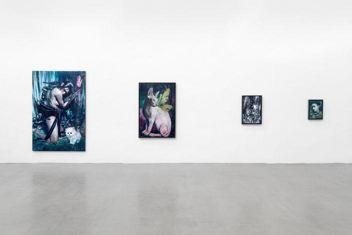Martin Eder,Phantasma,2021, installation view, Galerie EIGEN + ART Leipzig, photo: Uwe Walter, Berlin.