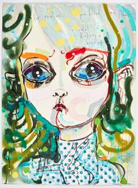 for realies...you killed my flow by Del Kathryn Barton contemporary artwork mixed media