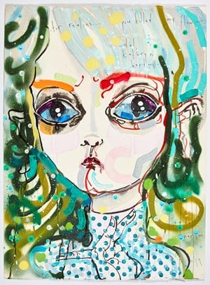 for realies...you killed my flow by Del Kathryn Barton contemporary artwork