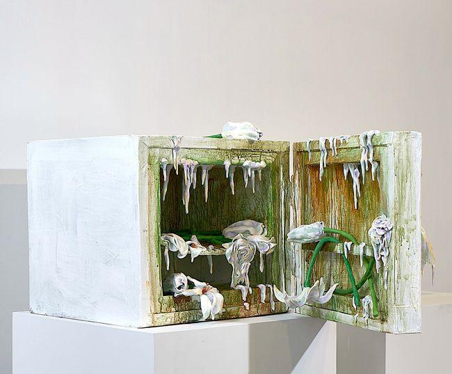 Covid Mini-Fridge by Valerie Hegarty contemporary artwork
