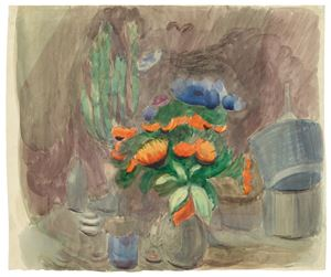 Still life with flowers by Otto Meyer-Amden contemporary artwork
