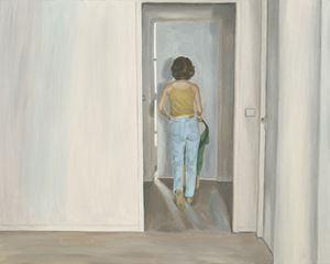 Aisle-Yellow, Light Blue Color from the Back by Dongwook Suh contemporary artwork