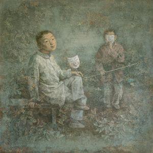 Garden by Wang Gang contemporary artwork painting