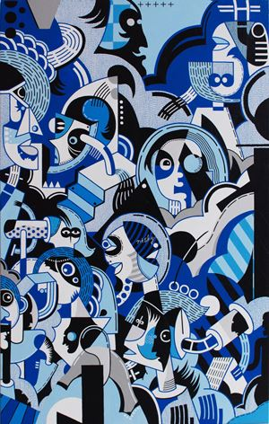 Surfer Rococo - Jazz Dream I by Nisky Yu contemporary artwork