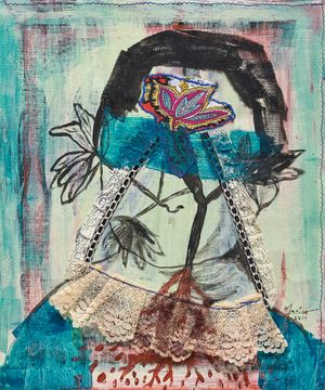 Flower Girl by Marina Cruz contemporary artwork