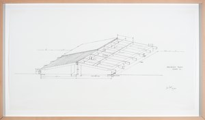 Architectural Project, Summer ´73, (Low Building with Dirt Roof) by Alice Aycock contemporary artwork