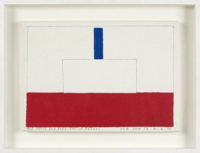 Red, White and Blue Castle CCLXXI 4.4.99 by Bob Law contemporary artwork