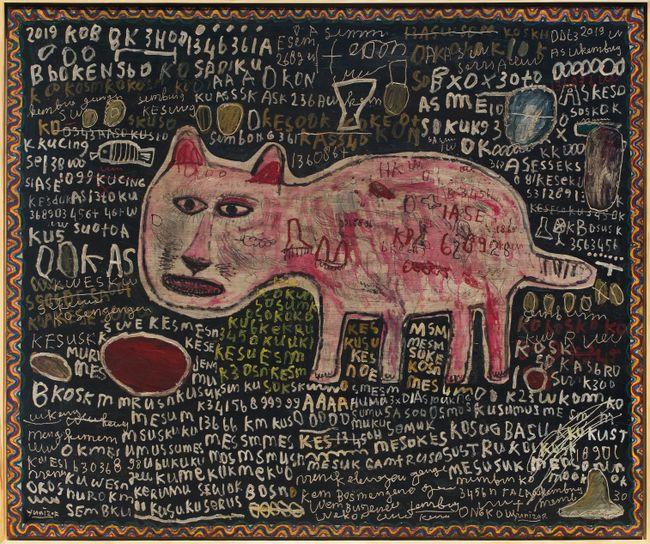 Kucing Merah by Yunizar contemporary artwork
