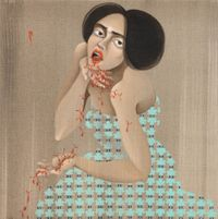 AntiBody outpour by Hayv Kahraman contemporary artwork painting
