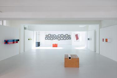 Exhibition view: JUDD / MALEVICH, Galerie Gmurzynska, Talstrasse 27, Zürich (10 June–15 September). Courtesy Galerie Gmurzynska, Talstrasse 27, Zürich.