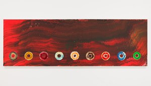 Nine Cosmic CDS: For The Firespitter (Jayne Cortez) by Jack Whitten contemporary artwork