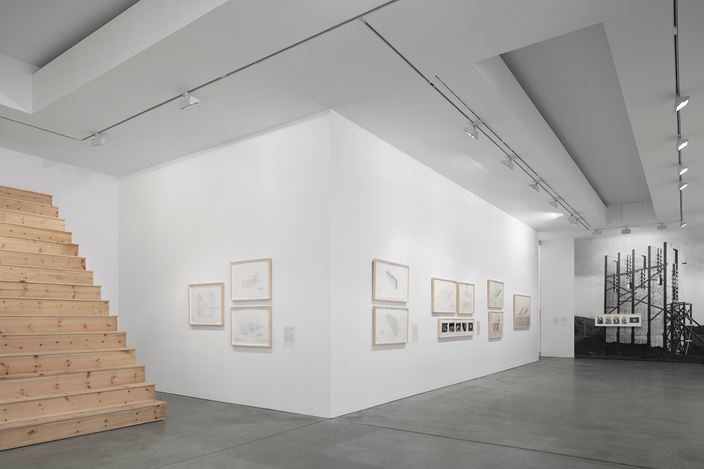 Exhibition view: Alice Aycock, Early Works, Galerie Thomas Schulte, Berlin (29 September–17 November 2018). Courtesy Galerie Thomas Schulte. Photo: ©hiepler, brunier,