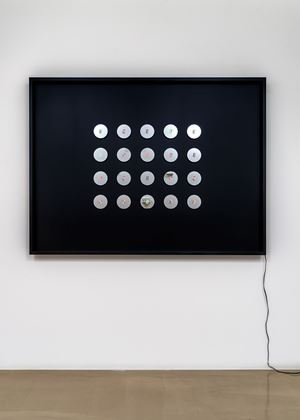Changing Time with Changing Self - small circle no.8 by Tatsuo Miyajima contemporary artwork