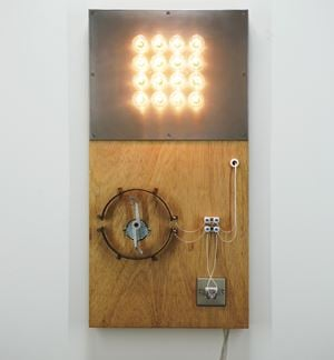 Point of Contact for 16 Incandescent Lamps by Satoru Tamura contemporary artwork