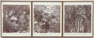 untitled woodcut triptych (inside out) by Sam Harrison contemporary artwork