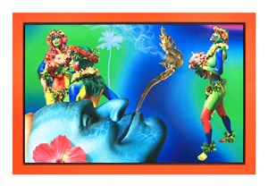Tropical Fever Dream by Ashley Bickerton contemporary artwork