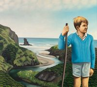 Nigel at Anawhata by Ian Scott contemporary artwork painting, works on paper