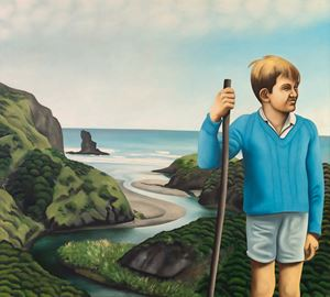 Nigel at Anawhata by Ian Scott contemporary artwork
