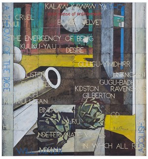 The Philosopher's Conquest by Imants Tillers contemporary artwork
