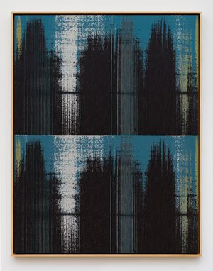 Negative Entropy (RSK Sanyo Broadcasting, Master Control Switchboard, Blue, Double) by Mika Tajima contemporary artwork