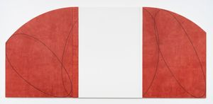 Red/White Zone Painting II by Robert Mangold contemporary artwork