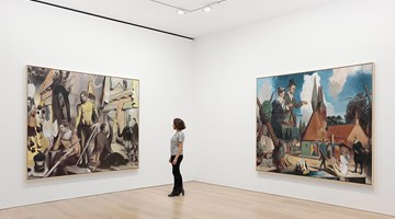 Contemporary art exhibition, Neo Rauch, Rondo at David Zwirner, London