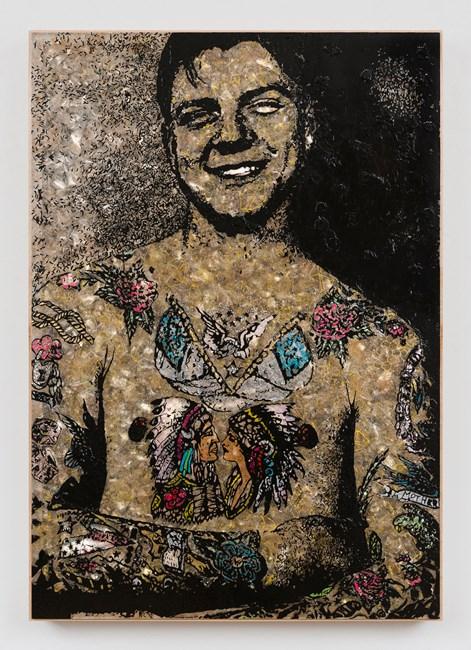 Tattooed Man by Jane Hammond contemporary artwork