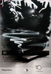 The Personal Effects of Kim Dotcom: Seized Property #43 by Simon Denny contemporary artwork mixed media