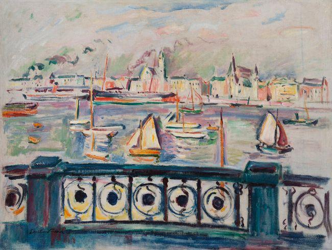 Le port d'Anvers by Emile Othon Friesz contemporary artwork