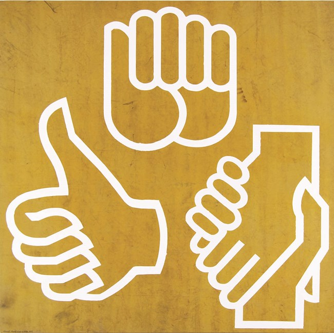 Obsolete Hand Logos c1970s by Peter Atkins contemporary artwork