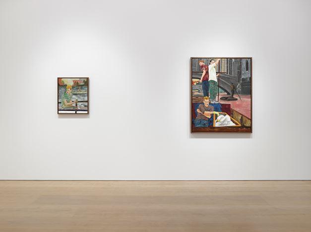 Exhibition view: Hernan Bas, Cambridge Living, Victoria Miro Mayfair (6 September–21 October 2017). © Hernan Bas. Courtesy the artist and Victoria Miro, London.