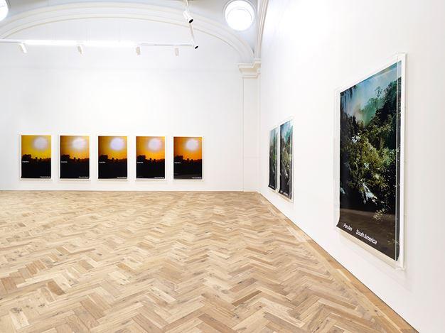 Exhibition view: Marine Hugonnier, TRAVEL POSTERS, Ingelby Gallery, Edinburgh (1 February–28 March 2020). Courtesy Ingelby Gallery. Photo: John McKenzie.