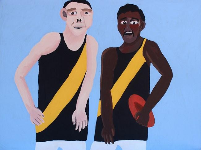Indulkana Tigers by Vincent Namatjira contemporary artwork